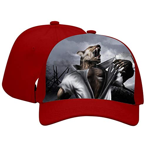 Gujigur Adult Peaked Cap Unisex Fantasy Grievous Werewolf Printed Pattern Novelty Hipster Basketball Snapback Hat -