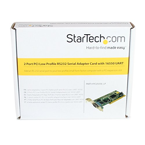 StarTech.com PCI2S550_LP 2-Port Low-Profile RS-232 Serial Adapter Card with 16550 UART