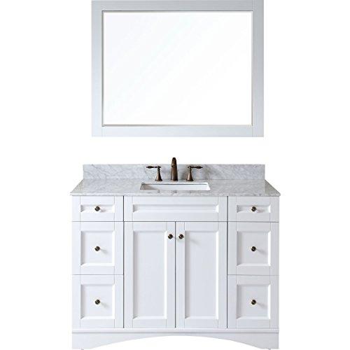 Virtu ES-32048-WMSQ-WH Elise Single Bathroom Vanity Cabinet Set, 48″, White For Sale