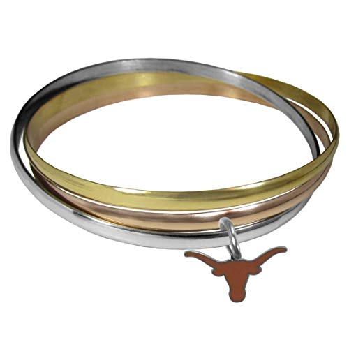 Siskiyou NCAA Texas Longhorns Womens Tri-Color Bangle Bracelet