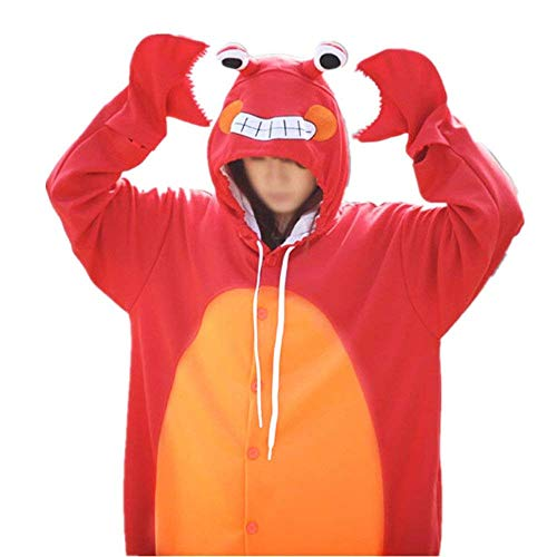 Adult Red Crab Pajamas Animal Cosplay Costume for $<!--$29.99-->