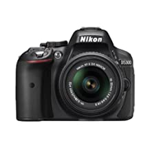Nikon D5300 24.2 MP CMOS Digital SLR Camera with 18-55mm f/3.5-5.6G ED VR II Auto Focus-S DX NIKKOR Zoom Lens, Black (Renewed)
