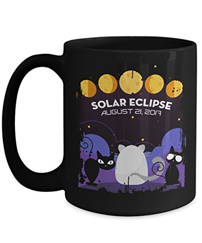 Total solar eclipse Mugs, Path of totality the Cats view the totality 11 oz - 15 oz Ceramic Coffee mugs, Tea cups - Funny Gift for Family, Friend, Cat lovers, - Sunglasses Eclipse To View
