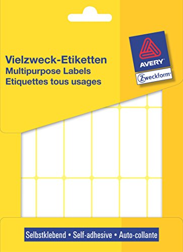 Avery Zweckform 3327 Vielzweck-Etiketten (Papier matt, 486 Klebeetiketten, 50 x 19 mm) 27 Blatt weiß