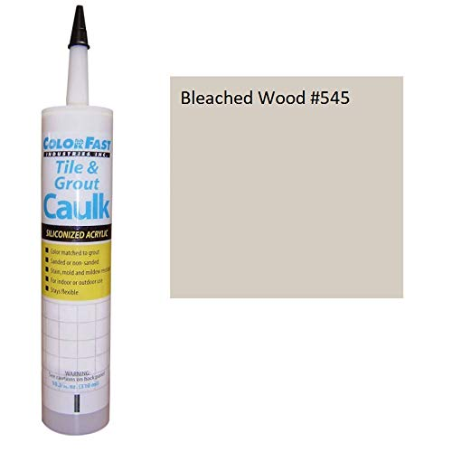 Color Fast Caulk Matched to Custom Building Products (Bleached Wood Sanded) ()