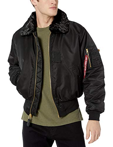 Alpha Industries Men's B-15 Nylon Flight Jacket, Black, for sale  Delivered anywhere in USA