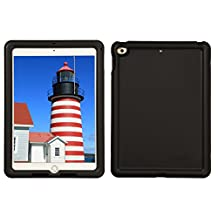 Bobj Rugged Case for iPad 2017 9.7 inch - BobjGear Custom Fit - Patented Venting - Sound Amplification - BobjBounces Kid Friendly (Not for iPad Pro 10.5) (Bold Black)