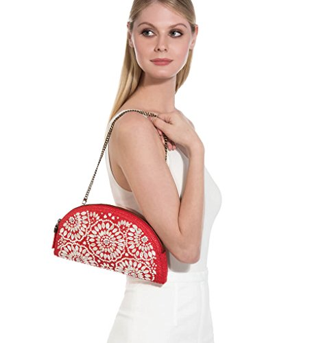 Red Women's Fashion Eric Luxury Handbag Designer Javits OcqO8aFHA