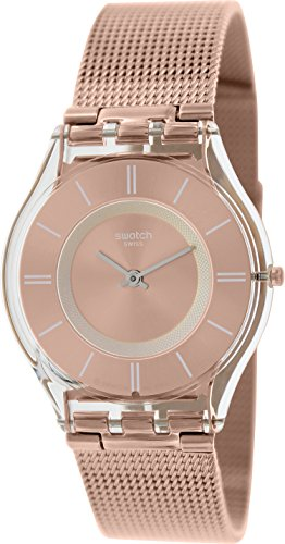 Swatch Women's Skin SFP115M Rose-Gold Stainless-Steel Swiss Quartz Watch with Rose-Gold Dial