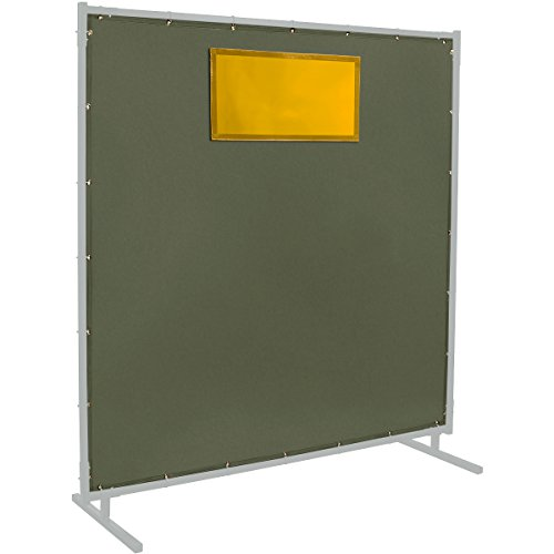 Steiner 301-334-6X6 Cotton Canvas Duck Protect-O-Screen HD 12-Ounce Replacement Curtain with 14 Mil ArcView Yellow Window, Olive Green, 6' x 6'