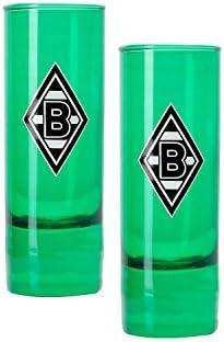 Schnapsglas Raute Vfl Borussia M/önchengladbach 2er Set gr/ün