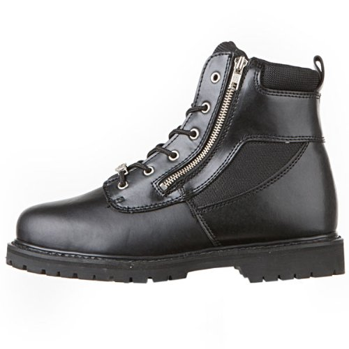 River Road Side-Zip Highway Boots - 11.5/Black