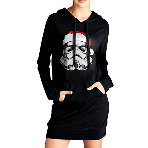 Ananlin Womens Christmas Stormtrooper Naughty Sexy V Neck Long Sleeve Cotton Hooded Hoodie/Sweatshirt Casual (Storm Trooper Sexy)