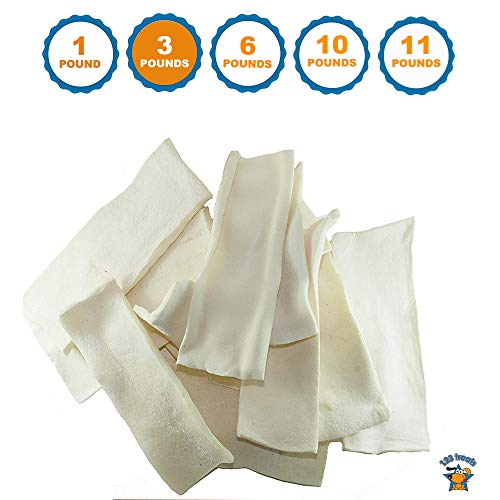 123 Treats - Rawhide Chips for Dogs (3 Pounds) Quality Bulk Dog Rawhide Chews - No Additives, Chemicals or Hormones from Natural Grass Fed Livestock
