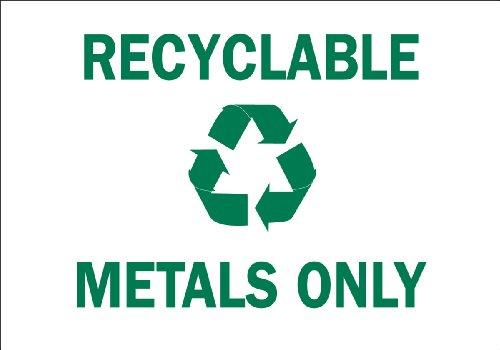 Brady 41963 Aluminum Recycle & Environment Sign, 10