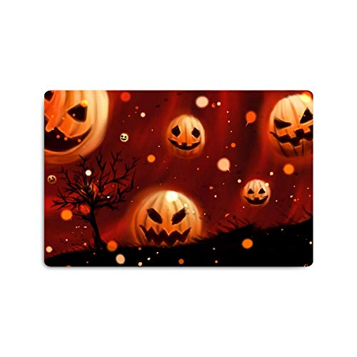 Personalized Pattern Print Design Placemats,Washable Placemats for Shower Room Kitchen Table Decoration,16 x 24 (inch) Pumpkin Halloween