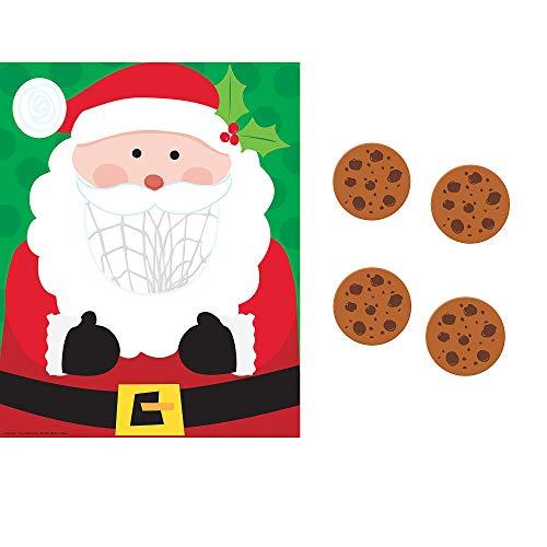 Amscan Multicolored Santa Disc Toss   Christmas Activity