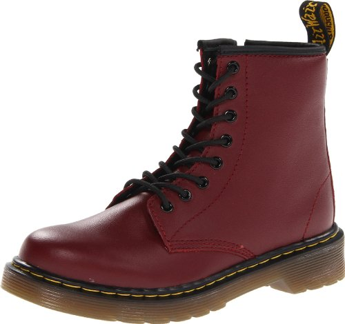 Dr. Martens Kid's Collection Unisex 1460 Junior Delaney Boot (Little Kid/Big Kid) Cherry Red Softy T 3 M UK -