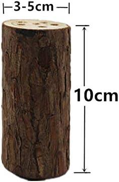 Super Idee 5 St/ück Insektenhotel Baumstamm 10cm L/änge 3cm bis 5cm Durchmesser 3 bis 5 L/öcher zum Selber bauen F/üllmaterial f/ür DIY Bienenhotel Wildbienenhotel Insektenhaus Wildbienen Nisthilfe