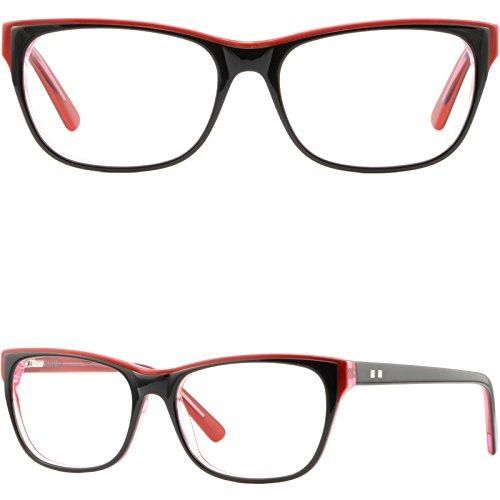 Plastic Frame Spring Hinges Prescription Glasses Eyeglasses Sunglasses Black - Tracking Order Sunglasses Shop