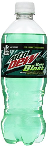 Mountain Dew Baja Blast 20-ounce Bottle - Limited Edition
