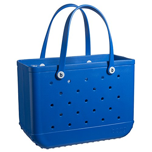 BOGG BAG X Large Waterproof Washable Tip Proof Durable Open Tote Bag for the Beach Boat Pool Sports 19x15x9.5 (X Large, BLUE-eyed bogg) (Tote Beach Plastic)
