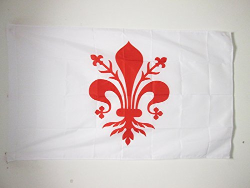 FLORENCE FLAG 3' x 5' for a pole - FIRENZE IN TUSCANY FLAGS 90 x 150 cm - BANNER 3x5 ft with hole - AZ FLAG (Hanging Tuscany Outdoor)