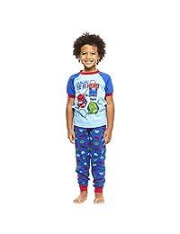 Jellifish Kids Toddler 2-Piece Cotton Pajamas Set,Top & Jogger Pants