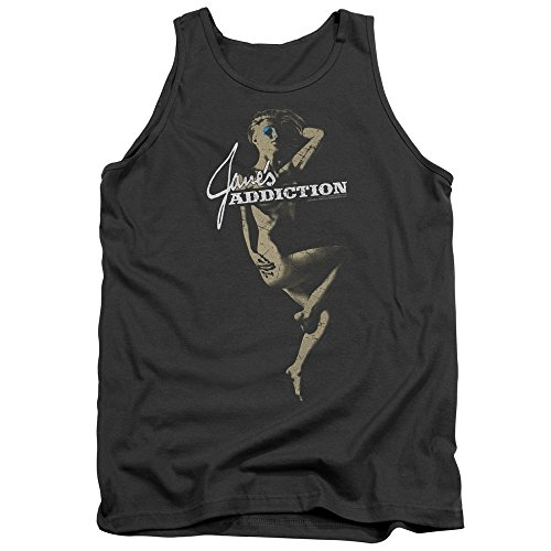 Janes Addiction Inside Escape Unisex Adult Tank Top for Men and Women, Large Charcoal