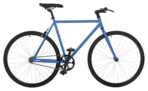 Vilano Fixed Gear Bike Fixie Single Speed Road Bike, Blue/Black, 50cm/Small