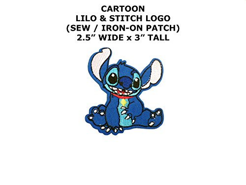 Stitch from Lilo & Stitch Cartoon DIY Embroidered Sew or Iron-on Applique Patch Outlander (Lilo And Stitch Costumes Diy)