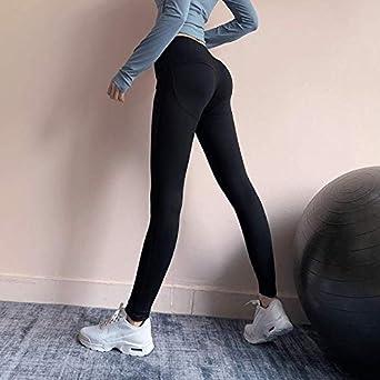 Pantalones de fitness de secado rápido Malla de cintura alta ...