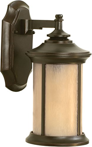 Craftmade Z6504-88 Wall Lantern with Tea-Stained Glass Shades, Bronze - Arden Stores
