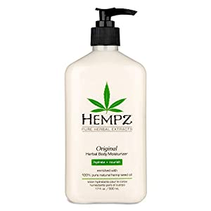Hempz Original, Natural Hemp Seed Oil Body Moisturizer with Shea Butter and Ginseng, 17 Fl Oz, Pure Herbal Skin Lotion…