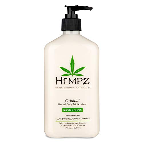 Original, Natural Hemp Seed Oil Body Moisturizer with Shea Butter and Ginseng, 17 Fl Oz - Pure Herbal Skin Lotion for Dryness - Nourishing Vegan Body Cream in Floral and Banana in USA