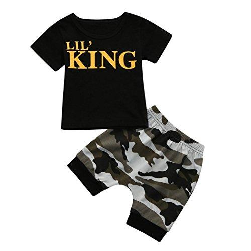 671a1d65 RETUROM-Ropa Ropa Para niños,RETUROM Tops + Shorts de Camuflaje Conjunto de  Ropa