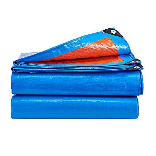 Tarpaulin, Waterproof Sunscreen Rain Shade Cloth Card Truck Plus Thick Canvas Tarpaulin Tarps (Color : Blue Orange, Size : 5m4m)
