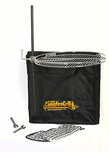 The Perfect CampfireGrill, Pioneer, 18-Inch Diameter Cooking Surface With Travel Tote Bag for this technique of How To Grill Sweet Corn Over The Campfire (or charcoal grill if you must)