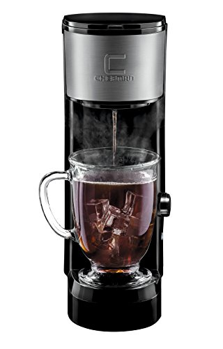 Chefman Pod Coffee Maker K-Cup InstaBrew Brewer, FREE FILTER INCLUDED For Coffee Grounds, Instant Reboil, Single Serve, Makes up to 14 oz, Fits Most Travel Mugs