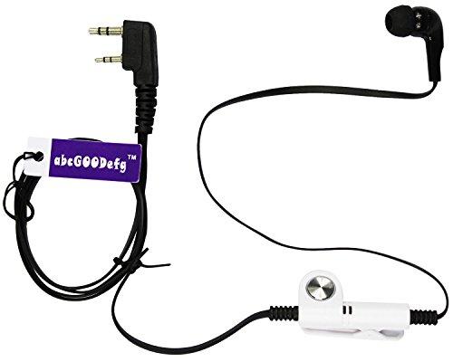 abcGoodefg 4 Color Optional 2 Pin Earpiece for Kenwood Baofe