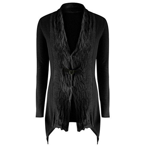 11a4ae61dd1 cheap AMA(TM) Women Knitted Irregular Cardigan Long Sleeve Casual Sweater  Coat Outwear