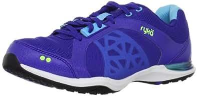 RYKA Women's Exertion Shoe,Navy/Light Blue/Yellow,5 M US