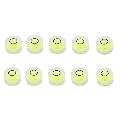 Jettingbuy 10pcs Tiny disque Niveau à bulle ronde circulaire Cercle Vert trépied 10x 6mm (D * H) smileforlife