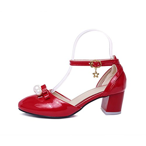 Sandales Confort balamasa perle pour cuir red brevet en femme TFw0AFqt
