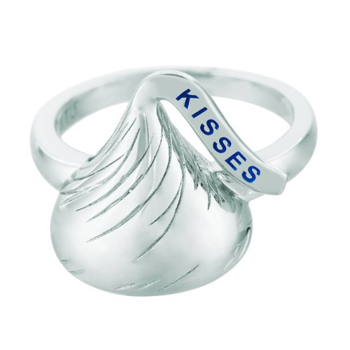 Hershey Jewelry - Sterling Silver Medium Flat Back Shaped Size 7 Hershey's Kiss Ring