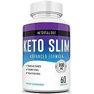 Best Keto Slim Diet Pills - Ketogenic Keto Weight Loss Pills for Women and Men - Ketosis Keto Supplement with BHB Salts for Keto Diet -Keto Pills Weightloss 60 Capsules