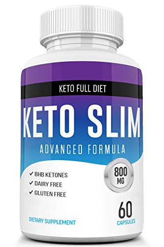 Best Keto Slim Diet Pills | Ketogenic Keto Weight Loss Pills for Women and Men | Ketosis Keto Supplement with BHB Salts for Keto Diet | Exogenous Ketones | Keto Pills Weightloss 60 Capsules