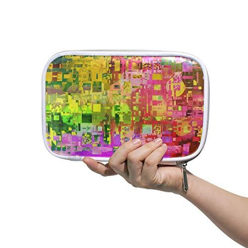 MALPLENA Colorful Mosaic Cosmetic Bag Makeup Brush Organizer Multifunctional Cosmetic Bag Pen Case for Travel & Home