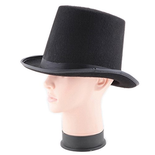 [Men Costume Party Hats for Men Women Magician Black Hat for Adults Costume Party Fedoras Hat Halloween Party Costume] (Masquerade Masks Near Me)