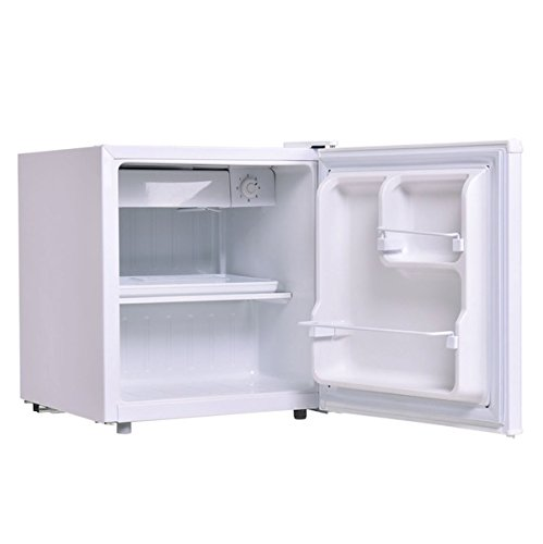 White 1.7 Cu. Ft. Compact Small Single Door Refrigerator Mini Fridge With Internal Freezer Cooler Reversible Door Adjustable Temperature Home Decoration Dorm Wet Bars Apartment Condo Office Hotel